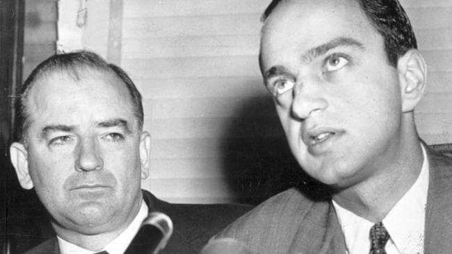 Mr Trump said 'great' lawyers like Roy Cohn (right) who helped investigate suspected communists in the 1950s didn't take notes. Picture: File