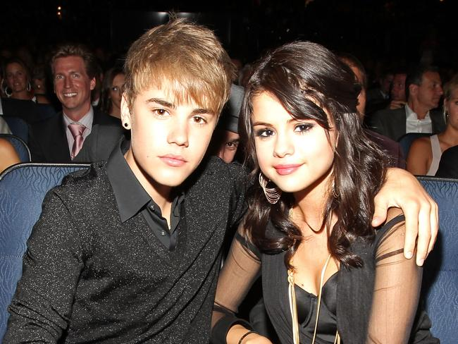 Selena Gomez, with ex-boyfriend Justin Bieber, has battled health problems in recent years. Picture: Getty Images for ESPN