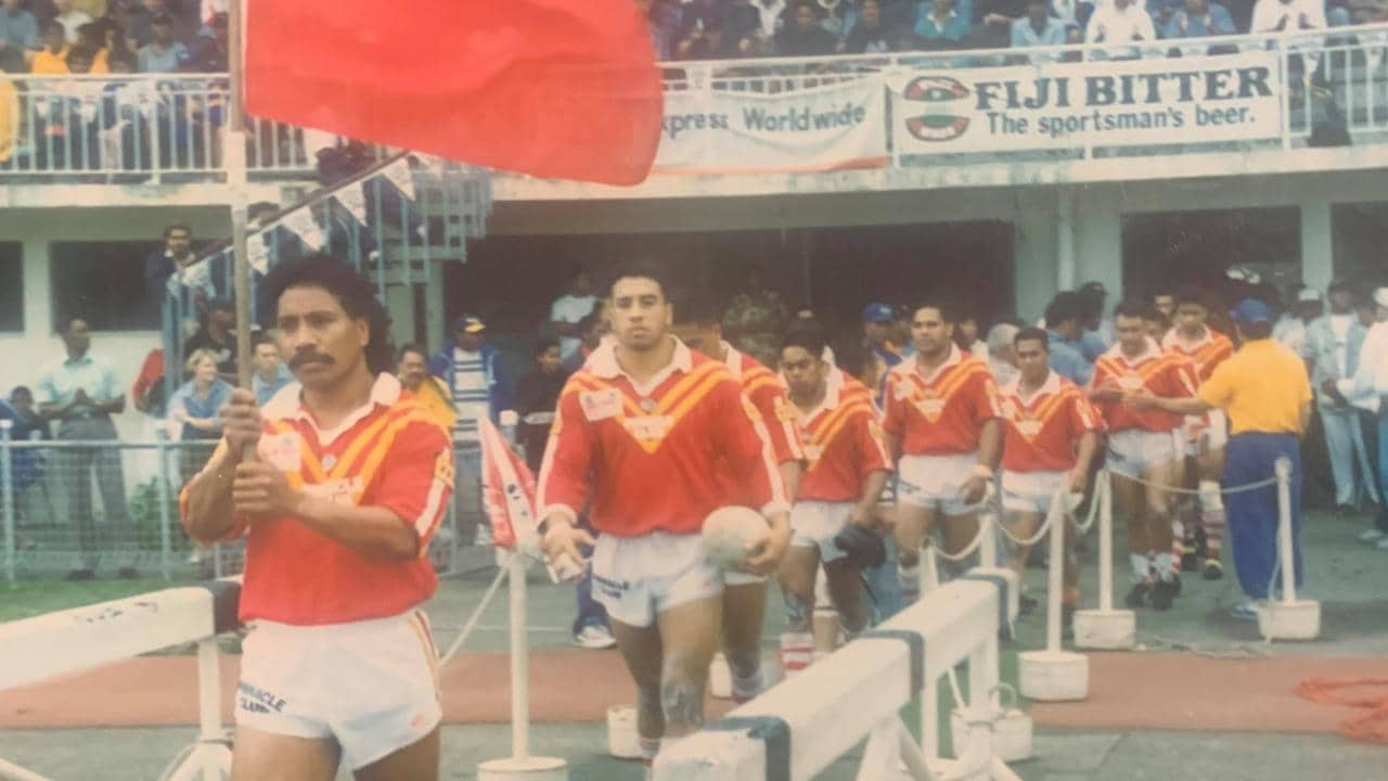 Tonga walk out to face Fiji in the 1994 Pacific Cup