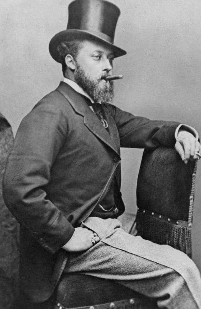 King Edward VII's love seat has been featured in a doco — leaving people confused. Picture: Paul Popper/Popperfoto/Getty Images