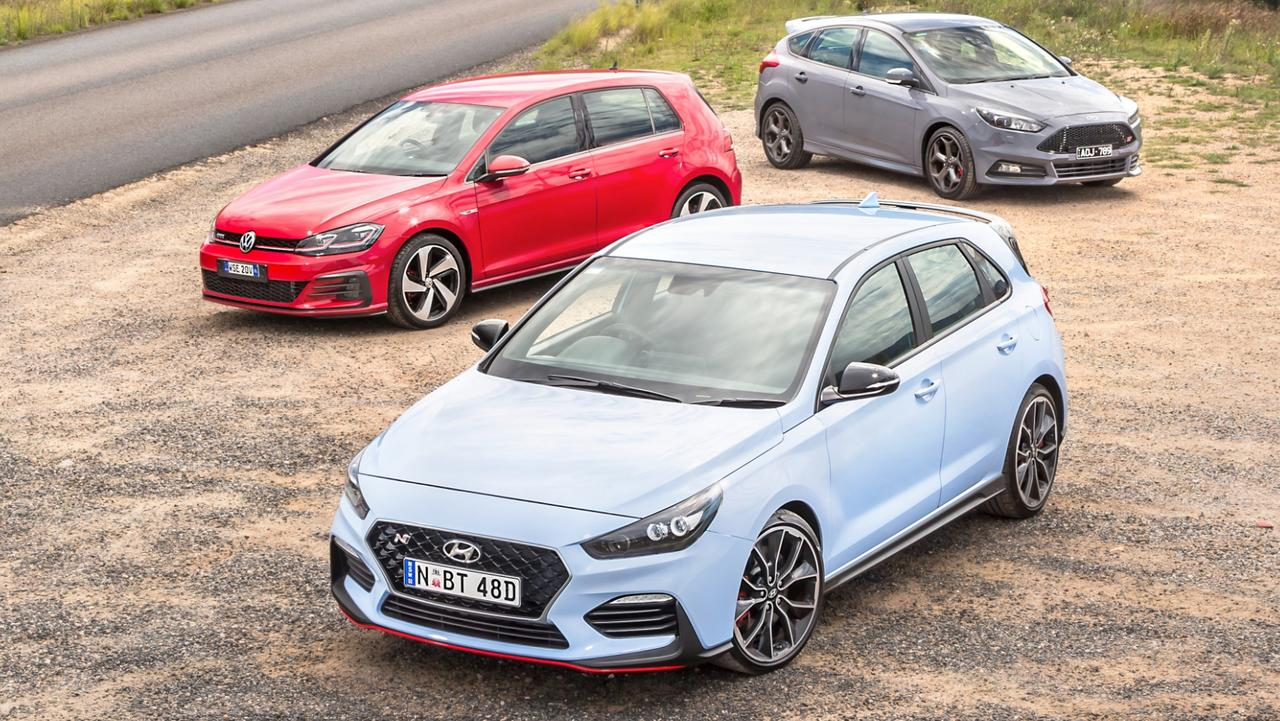 hyundai i30n vw golf gti and ford focus st in hot hatch. Black Bedroom Furniture Sets. Home Design Ideas