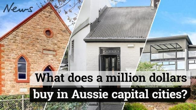 What does a million dollars buy in Aussie capital cities?