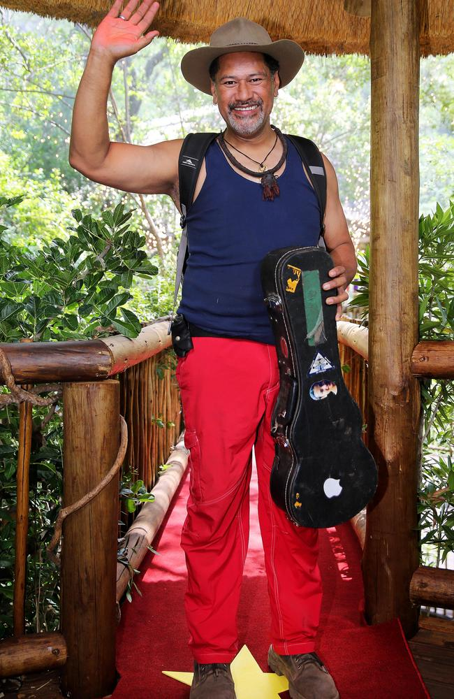 Jay Laga'aia has been eliminated from I'm A Celebrity … Get Me Out Of Here! Picture: Nigel Wright