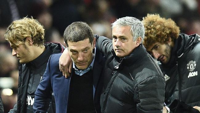 Mourinho and West Ham boss Slaven Bilic.