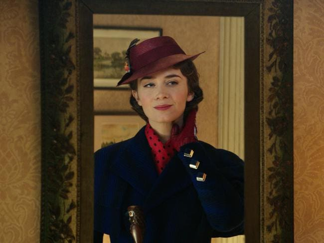 Emily Blunt as Mary Poppins in Mary Poppins Returns. Picture: AP