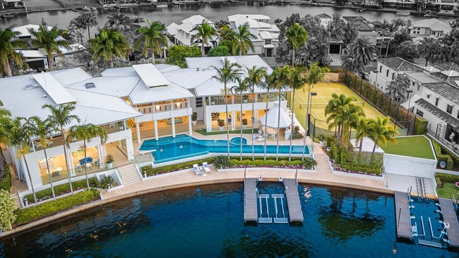 Not your typical Queenslander: This glamorous home has a nightclub, resort style pool and a championship-sized tennis court. Picture: Supplied