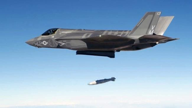 The F-35 fighter in action