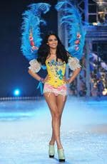 Shanina Shaik walks the runway during the Victoria's Secret Fashion Show on November 7, 2012 in New York City. Picture: Getty