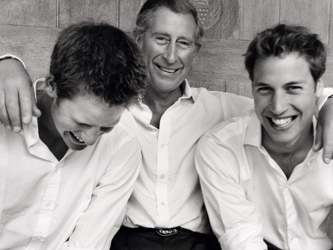 This shot from 2004 shows the trio's loving relationship. Picture: Supplied