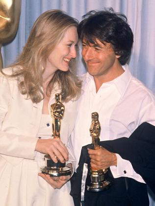 Streep and Hoffman at the 1980 Academy Awards. Picture: Getty Images