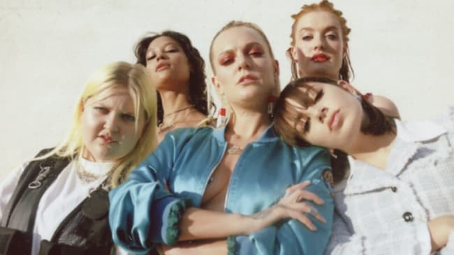 Tove with ALMA, Charli XCX, Icona Pop and Elliphant. Image: Supplied