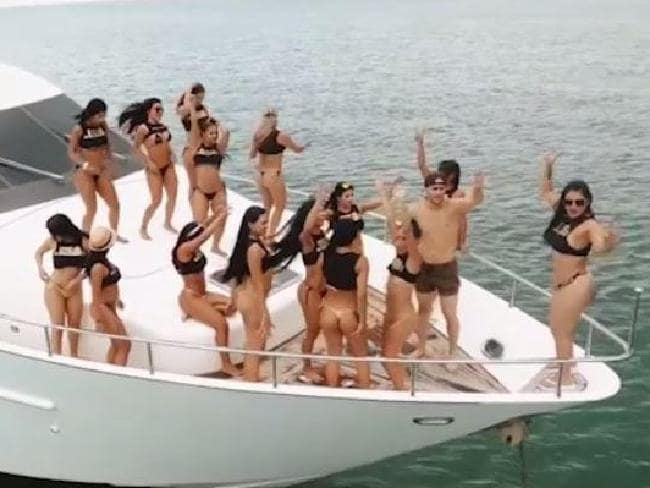 The sex party has now been moved from Colombia to a mystery Caribbean island. Picture: Supplied