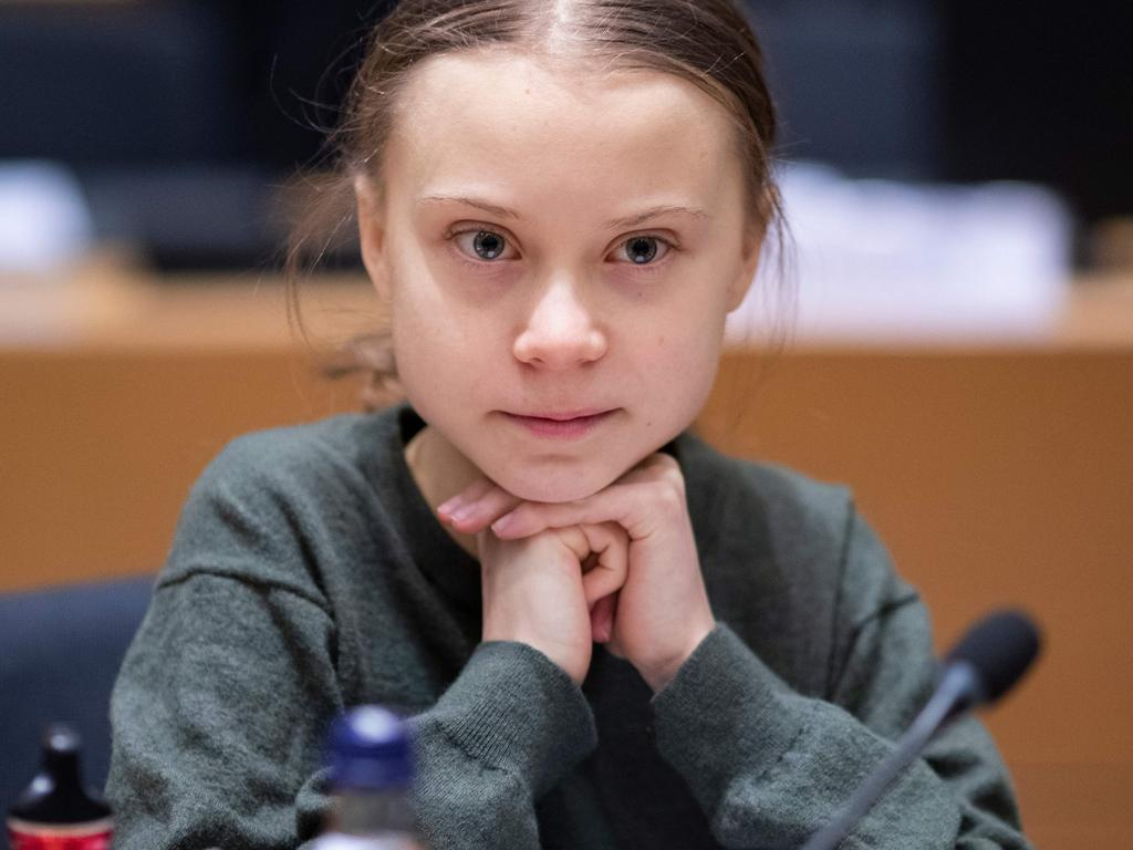 Swedish environmentalist Greta Thunberg arrives for a meeting at the Europa building in Brussels on March 5. Image: AFP