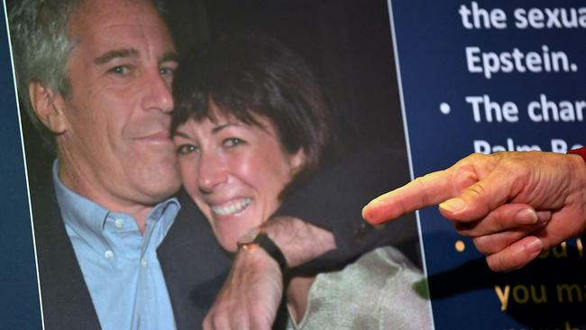 Ghislaine Maxwell is accused of recruiting underage girls for the late disgraced US financier Jeffrey Epstein. Picture: AFP
