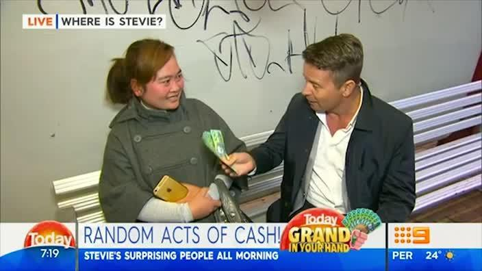 Another woman knocks back cash from Today Show