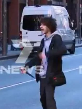 Ney allegedly went on a stabbing rampage in Sydney CBD. Picture: Seven News