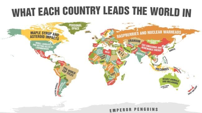 This is the coolest world map, ever