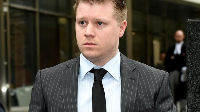 Chris Hill leaves the Melbourne County court.