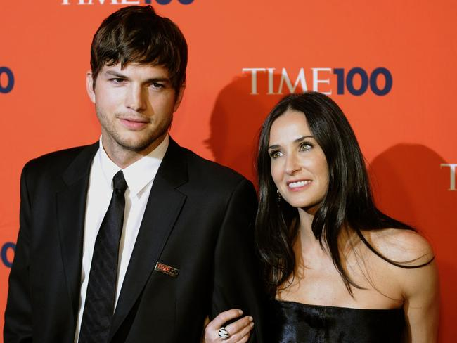 Ashton Kutcher and Demi Moore split in 2011. Picture: AFP