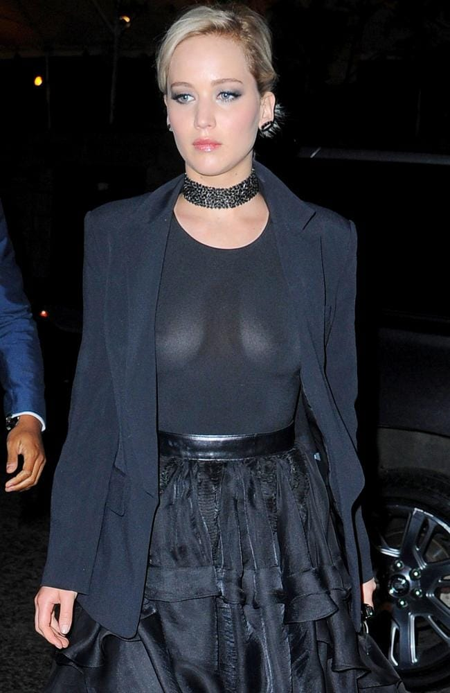 J-Law left little to the imagination. Picture: Josiah Kamau/BuzzFoto/Getty Images