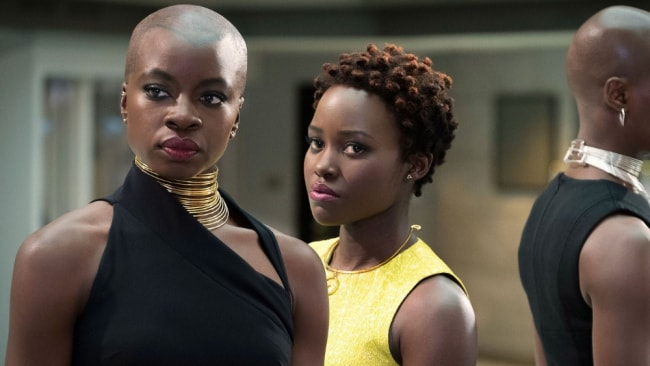 Head warrior Okoye accompanied by equal badass Nakia. Photo: 'Black Panther'