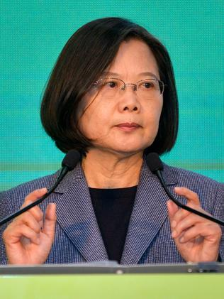 Taiwan's President Tsai Ing-wen was re-elected last month. Picture: Chris Stowers/AFP