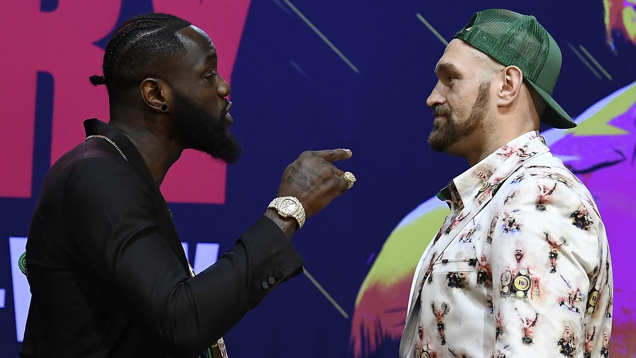 Wilder and Fury will face off next month. (Photo by Kevork Djansezian/Getty Images)