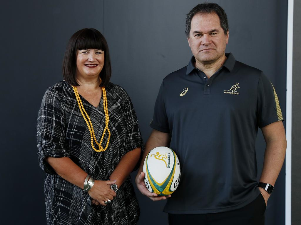 Raelene Castle, pictured with Dave Rennie, has been blasted for her pursuit of Joseph Suaalii.