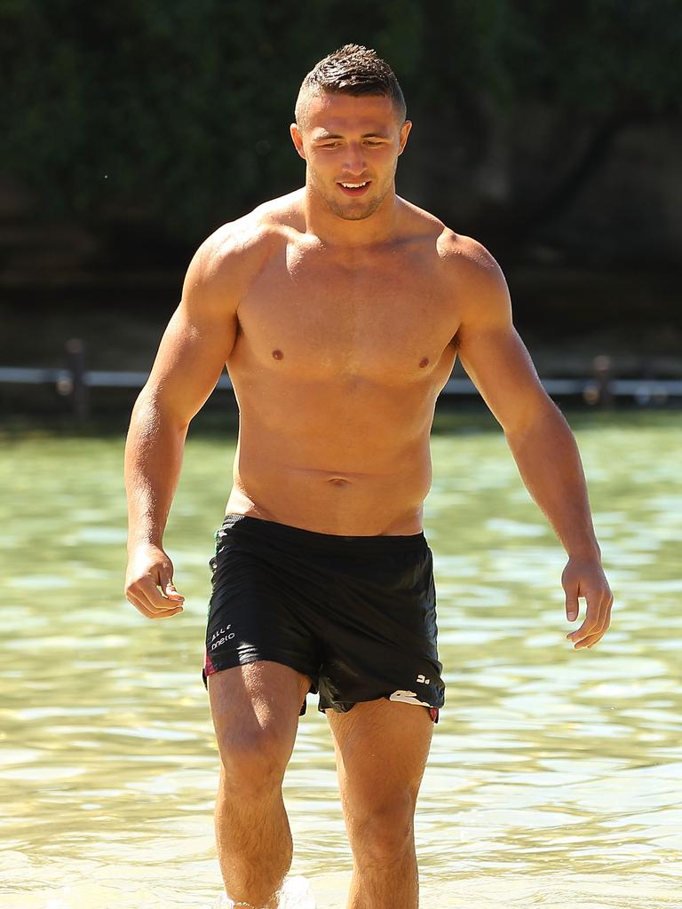 Sam Burgess has always been a physical specimen. (Photo by Mark Metcalfe/Getty Images)