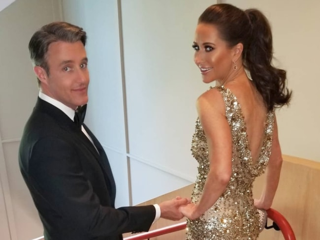 Ben and Jessica Mulroney ahead of Meghan Markle and Prince Harry's wedding reception. Photo: @rachelrenna/Instagram