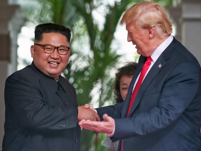 Donald Trump meets Kim Jong-un. Picture: Mega