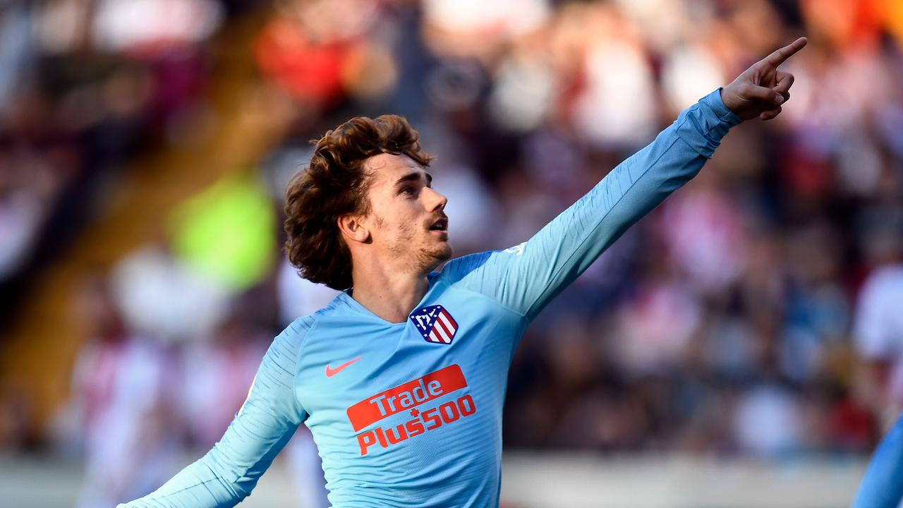 Atletico's French forward Griezmann got his name on the scoresheet