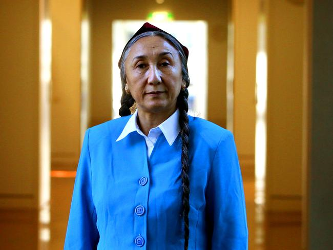 Uyghur leader Rebiya Kadeer at Parliament House in Canberra.