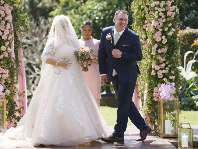 Married at First Sight contestants Jo and Sean. Photo: Channel 9
