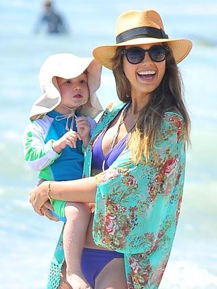 Jessica Alba and her youngest daughter Haven.