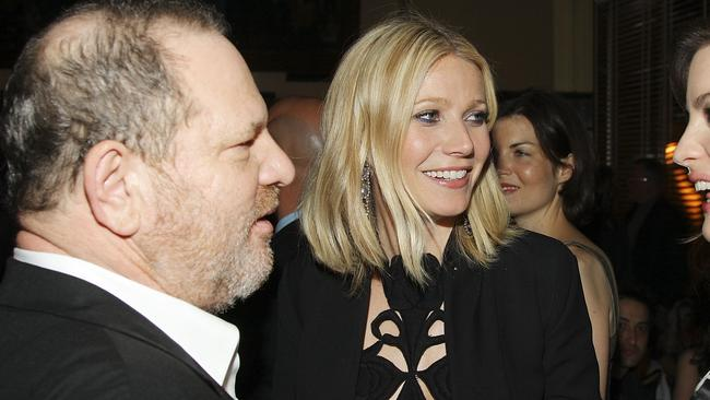 The book details how Paltrow once hid from Weinstein when he turned up to a party at her house. Picture: Getty.