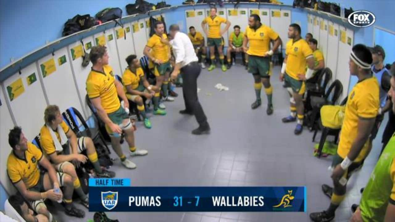 Cheika goes off in sheds