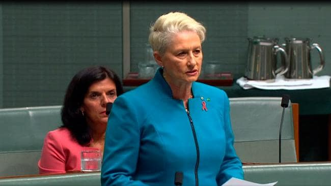Kerryn Phelps asking her question.