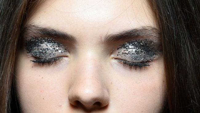 Glitter goes where now? Image: Getty