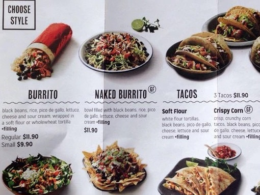 Mad Mex prices are also much higher. Picture: Zomato