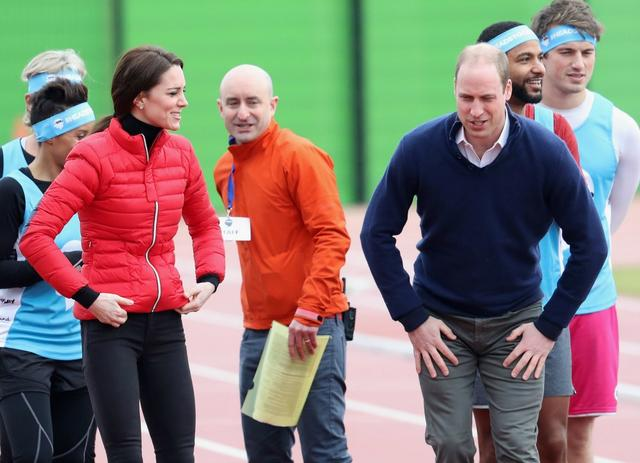 will and kate race starting line