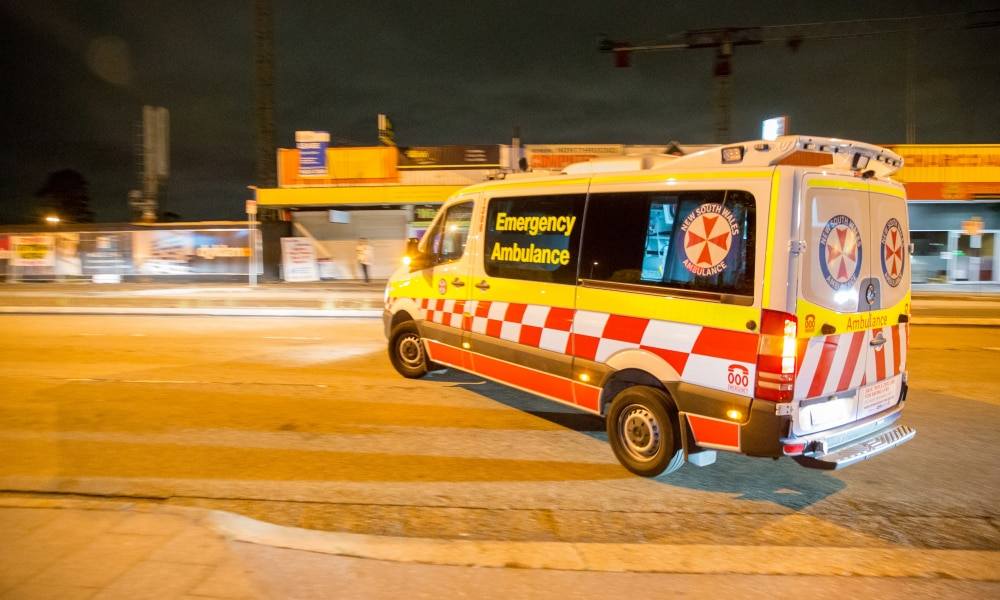 Journalist Nick Hansen and Photographer Damian Hofman ride with NSW Ambulance in Sydney's Western suburbs. JOB 5 Stabbing Assault at Bull and Bush Hotel Baulkham Hills (NOT on private property). Pic: Damian Hofman