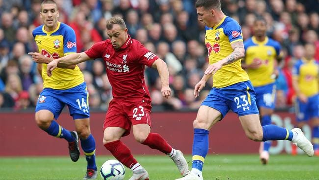 Shaqiri was finally given his first start for Liverpool.