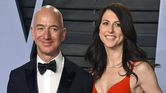 Jeff and MacKenzie Bezos are famously low-key when it comes to their incredibly vast wealth. Picture: Evan Agostini/Invision/AP