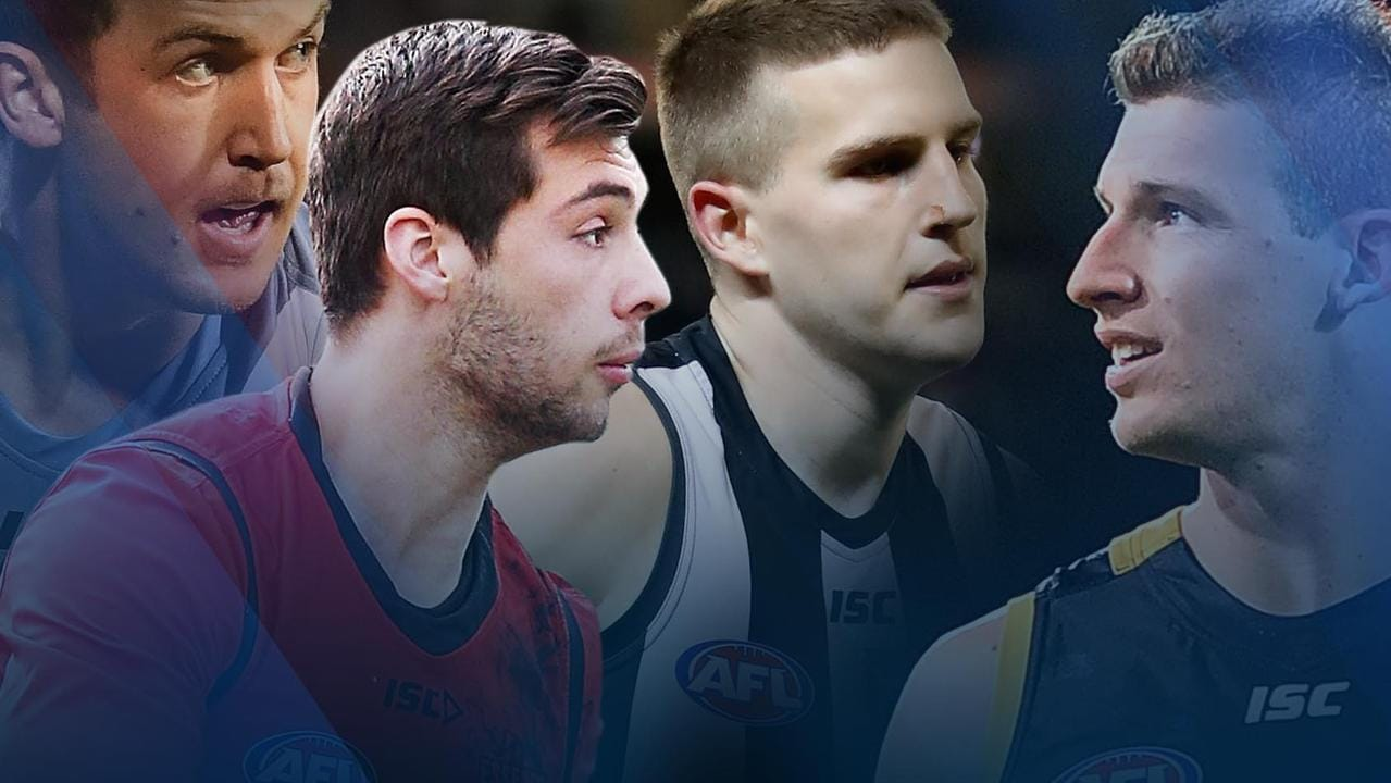 The unlucky fringe players: Jack Trengove, Kyle Langford, Brayden Sier and Josh Jenkins.