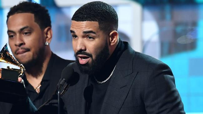 Drake sampled a Jackson track last year. Picture: Robyn Beck / AFP