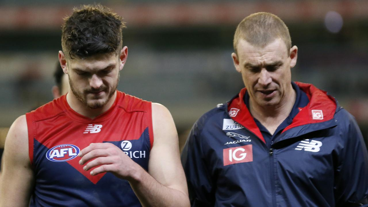 Melbourne's Angus Brayshaw is well down on his 2018 output.