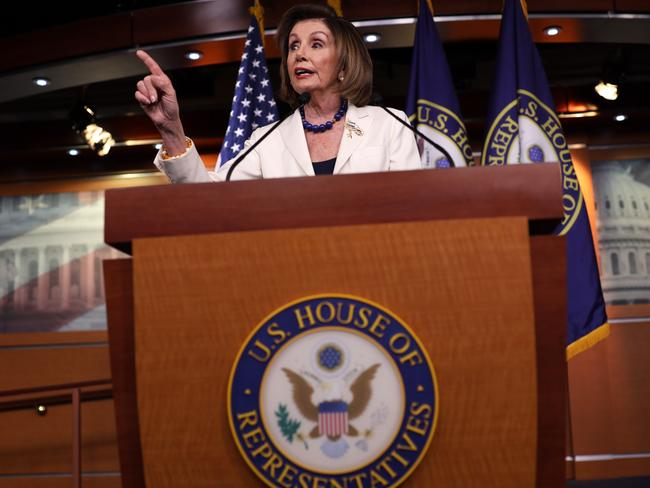 U.S. Speaker of the House Rep. Nancy Pelosi (D-CA) on Capitol Hill in Washington, DC. Speaker Pelosi discussed the impeachment inquiry against President Donald Trump. Picture: Alex Wong