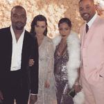 "Kanye West, Kim Kardashian West, Jada Pinkett Smith and Will Smith... ""Gatsby Gang"" Picture: kimkardashian/Instagram"