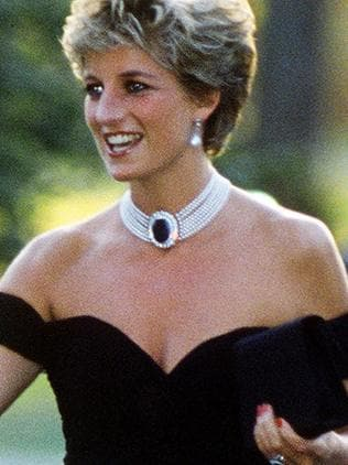 Diana teamed the dress with a daring red manicure. Picture: Jayne Fincher/Getty Images